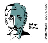 richard strauss engraved vector ...   Shutterstock .eps vector #1290476329