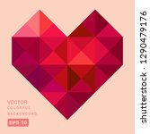 vector geometric polygonal... | Shutterstock .eps vector #1290479176