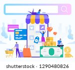 online shopping and delivery of ... | Shutterstock .eps vector #1290480826