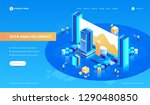data analysis service isometric ... | Shutterstock .eps vector #1290480850