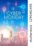 cyber monday concept banner in... | Shutterstock . vector #1290481450