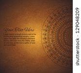 half of vintage mandala... | Shutterstock .eps vector #129048209