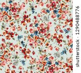 Stock photo flowers pattern floral 1290488776