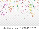 colorful confetti celebration... | Shutterstock .eps vector #1290493759