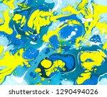 abstract marbling  ebru style...   Shutterstock . vector #1290494026