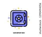 icon of safe deposit box for... | Shutterstock .eps vector #1290494056