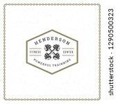 fitness gym badge or emblem... | Shutterstock .eps vector #1290500323