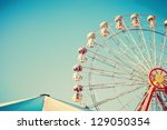 Ferris Wheel And Carnival Tent