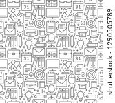 office seamless pattern with... | Shutterstock .eps vector #1290505789