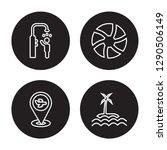 4 linear vector icon set  ...   Shutterstock .eps vector #1290506149