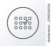 seat selection icon line symbol.... | Shutterstock .eps vector #1290516316
