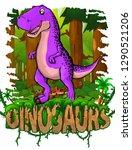 tyrannosaurus on the background ... | Shutterstock .eps vector #1290521206