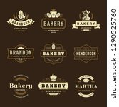 bakery logos and badges design... | Shutterstock .eps vector #1290525760