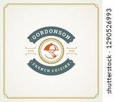 restaurant logo template vector ... | Shutterstock .eps vector #1290526993