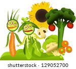 vegetable picture | Shutterstock .eps vector #129052700