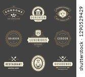 restaurant logos design... | Shutterstock .eps vector #1290529429