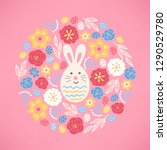 easter greeting card with... | Shutterstock .eps vector #1290529780