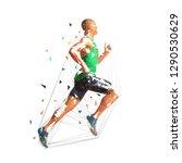 running man  low polygonal...   Shutterstock .eps vector #1290530629