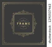 vintage flourishes ornament... | Shutterstock .eps vector #1290537463