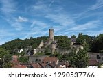 view of the castle ruin... | Shutterstock . vector #1290537766