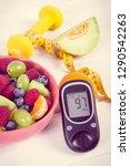fresh fruit salad  glucose... | Shutterstock . vector #1290542263