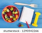 fresh prepared fruit salad ... | Shutterstock . vector #1290542266
