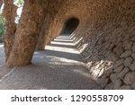 park guell in barcelona  spain. ... | Shutterstock . vector #1290558709