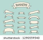 set of vintage banners. old... | Shutterstock .eps vector #1290559540