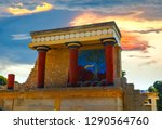 north entrance of the knossos... | Shutterstock . vector #1290564760