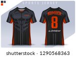 t shirt sport design template ... | Shutterstock .eps vector #1290568363