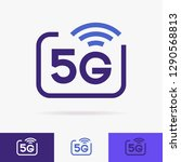 5g vector icons set isolated on ... | Shutterstock .eps vector #1290568813