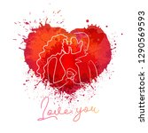 paint splash heart vector color ...   Shutterstock .eps vector #1290569593