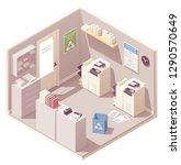 vector isometric office copy... | Shutterstock .eps vector #1290570649