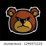 angry teddy bear head vetor | Shutterstock .eps vector #1290571123