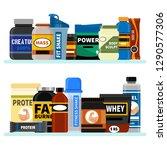 sports nutrition supplement on... | Shutterstock .eps vector #1290577306