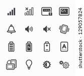 Icons for Mobile Phone with White Background