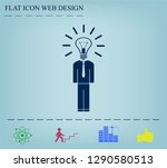 pictograph of bulb concept | Shutterstock .eps vector #1290580513