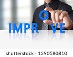 businessman hand and word text... | Shutterstock . vector #1290580810