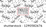 hen party seamless pattern with ... | Shutterstock .eps vector #1290582676