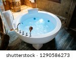 modern beautiful hydro massage... | Shutterstock . vector #1290586273