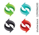 reload undo  redo vector icon... | Shutterstock .eps vector #1290586330