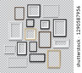 set of photo realistic square... | Shutterstock .eps vector #1290587956