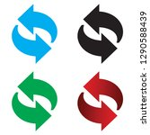 set of recycle arrow icons and...