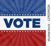 vote patriotic eleement | Shutterstock . vector #129059024