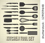 Vector Set  Kitchen Utensils Set