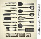 Vector Set  Kitchen Utensils Set