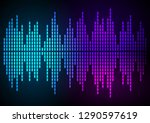 sound waves vector abstract  ... | Shutterstock .eps vector #1290597619