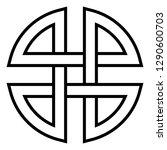 chinese japanese symbol  vector ... | Shutterstock .eps vector #1290600703