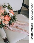 bride's bouquet. rings on a... | Shutterstock . vector #1290602920