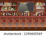 drinking establishment.... | Shutterstock .eps vector #1290605569